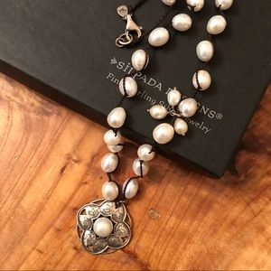 Silpada Sterling Silver Rhyannon Pearl Necklace
